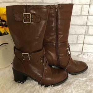 Sonoma Octavia Cognac Mid-Calf Boots Sz 7.5
